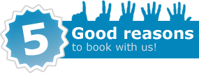 Five good reasons to book with us